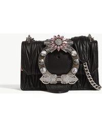 Miu Miu Miu Ladies Black Lady Matelassé Leather Shoulder Bag