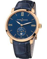 Ulysse Nardin - 3206-136-2/33 Classico Rose-gold Watch - Lyst