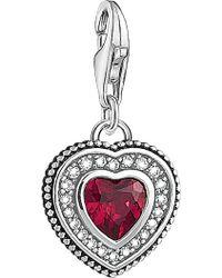 Thomas Sabo - Charm Club Sterling Silver Vintage Heart Charm - Lyst