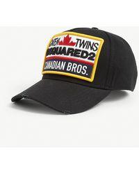 DSquared² Canadian Bro's Cotton Cap - Black