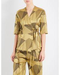 Aimee Kestenberg | Striped Jacquard Silk-blend Pyjama Shirt | Lyst