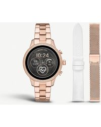 Michael Kors Mkt5060 Runway Rose-gold Plated Stainless Steel Watch - Multicolour