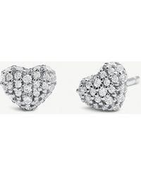 Michael Kors - Stainless Steel Cubic Zirconia Stud Earrings - Lyst