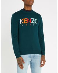 KENZO - Logo Embroidered Jumper - Lyst