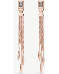 Monica Vinader - Baja Deco 18ct Yellow-gold And Cocktail Earrings - Lyst