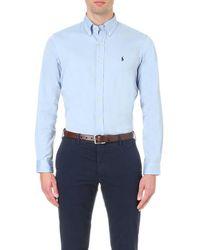Polo Ralph Lauren Oxford Custom-fit Single Cuff Shirt - Black