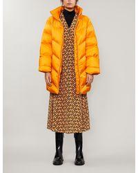 Gestuz Joylee High-neck Padded Shell Coat - Orange