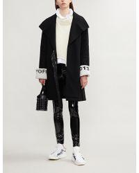 Closed - X Girbaud Logo-print Wool-blend Coat - Lyst