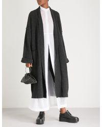 Isabel Benenato - Longline Yak And Merino Wool-blend Coat - Lyst