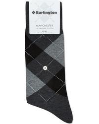 Burlington Manchester Original Cotton Socks - Grey
