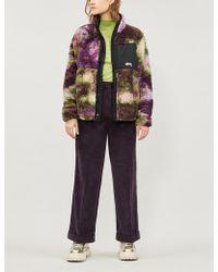 Stussy - Reversable Tie-dye Fleece Jacket - Lyst