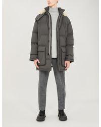 Jil Sander Padded Shell And Down-blend Coat - Gray