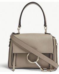 Chloé - Ladies Motty Grey Faye Day Mini Leather Shoulder Bag - Lyst