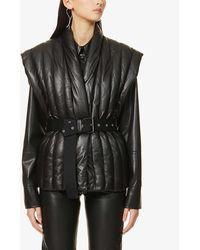 Isabel Marant Ajali Quilted Leather Gilet - Black