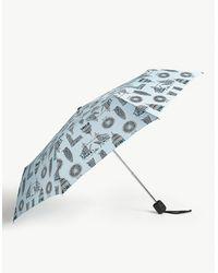 Fulton London Landmark Stowaway Deluxe Umbrella - Blue