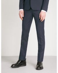 The Kooples - Tapered Wool And Cotton-blend Trousers - Lyst
