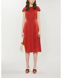 Ted Baker Bellana Crepe Midi Dress - Red