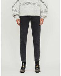 TOPSHOP Ashed Black Premium Mom Jeans