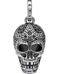 Thomas Sabo Rebel At Heart Skull Sterling Silver Pendant - Black
