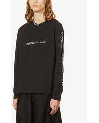 The Soloist Dark Wave Text-print Cotton-jersey Top - Black
