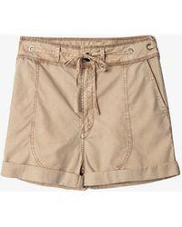 Zadig & Voltaire Street Waist-tie Cotton Shorts - Natural