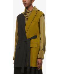 ROKSANDA Paola Sleeveless Woven Jacket - Multicolour