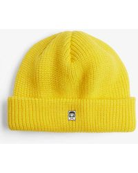 Obey Micro Ribbed Beanie - Yellow