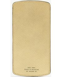 Smythson - Panama Cross-grain Leather Glasses Case - Lyst