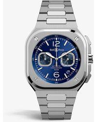 Bell & Ross Br05c-bu-st/sst Stainless Steel Watch - Blue