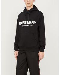 Burberry Logo Hooded Sweatshirt - Black