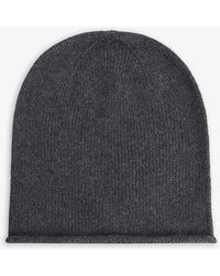 Johnstons Cashmere Beanie Hat - Gray