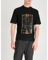 Prada - Logo Jacquard-print Cotton-jersey T-shirt - Lyst