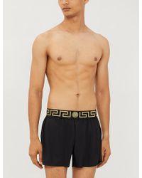 Versace Iconic Branded Swim Shorts - Black