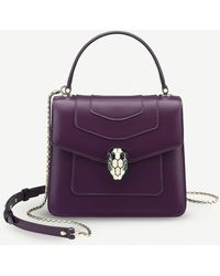 BVLGARI - Serpenti Forever Leather Flap Cover Bag - Lyst