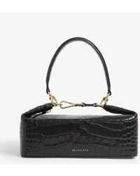 Rejina Pyo Olivia Croc-embossed Bag - Black