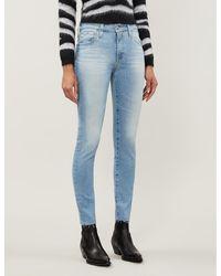 AG Jeans - Ladies Light Blue Farrah Skinny Ankle High-rise Jeans - Lyst