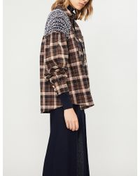 Free People - Fireside Nights Checked Cotton Shirt - Lyst