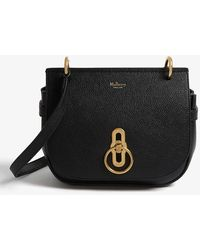 Mulberry Amberley Grained Leather Small Satchel Bag - Black