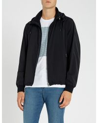 BOSS - Rubberised-logo Quilted Shell Jacket - Lyst