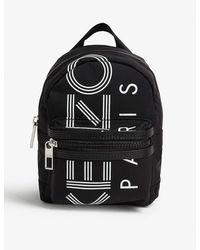 KENZO Logo-print Mini Nylon Backpack - Black