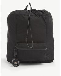 adidas By Stella McCartney Logo-embellished Recycled Polyester Rucksack - Black