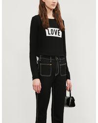 Zadig & Voltaire Gwendal Love Slogan Wool Jumper - Black