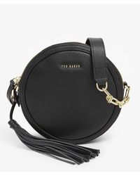 Ted Baker Errinn Circle Leather Crossbody Bag - Black