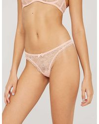 Agent Provocateur Hinda Lace Thong - Natural