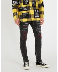 Haculla - Slim-fit Skinny Embroidered Denim Jeans - Lyst