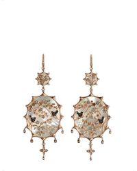Annoushka - Dream Catcher 18ct Rose Gold And Diamond Earrings - Lyst