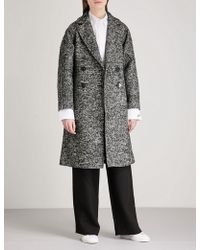 Mo&co. - Notch-lapel Double-breasted Tweed Coat - Lyst