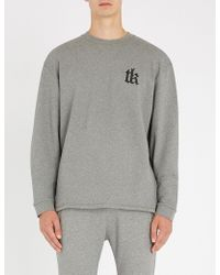 The Kooples - Logo-embroidered Cotton-jersey Sweatshirt - Lyst