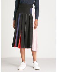 Sportmax - Serra Pleated Crepe Midi Skirt - Lyst