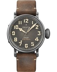 Zenith - 11.2430.679/21.c801 Pilot Type 20 Extra Special Ton Up Leather Watch - Lyst
